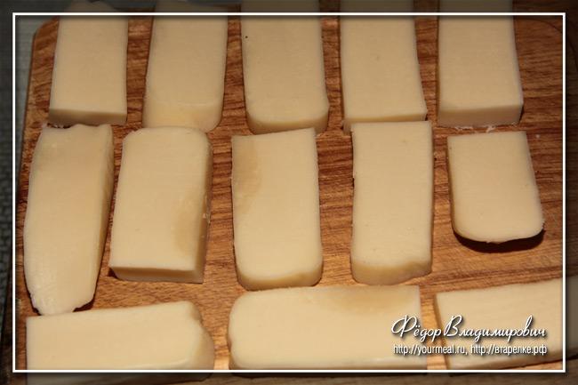 Жареный сыр. Сулeгуни.