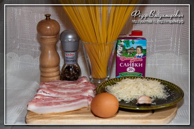 Спагетти алла карбонара.