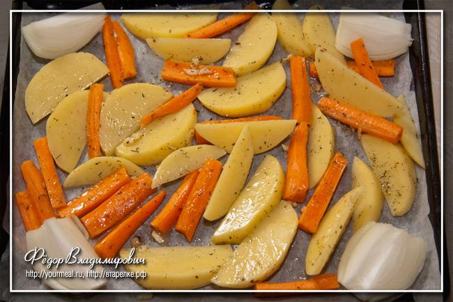 Гарнир из запеченных овощей.