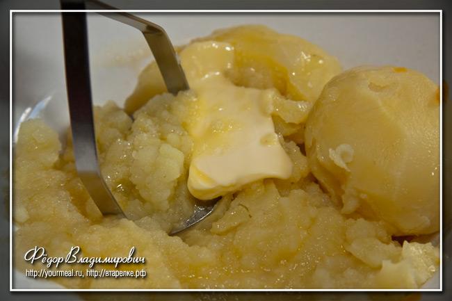 Картофельная похлебка из индюшачьих шей.