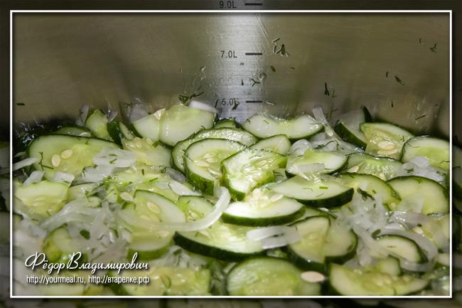 Огуречный салат на зиму.