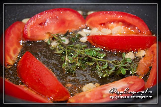 Салат из жареных помидоров.