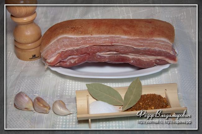 Вареная свиная грудинка – кулинарный рецепт