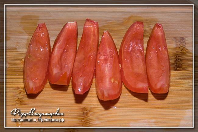 Тарт с баклажанами и помидорами.