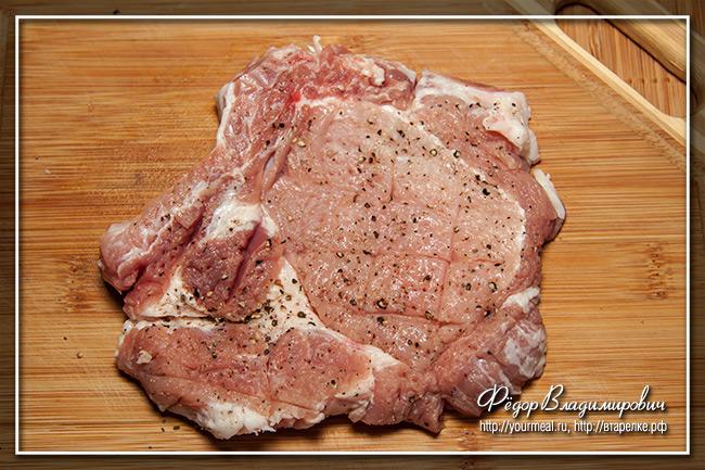 Отбивная из свинины.