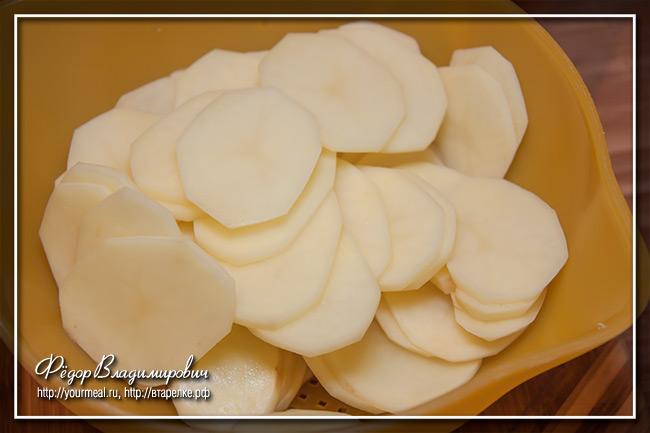 Гратен из картофеля со сливками.