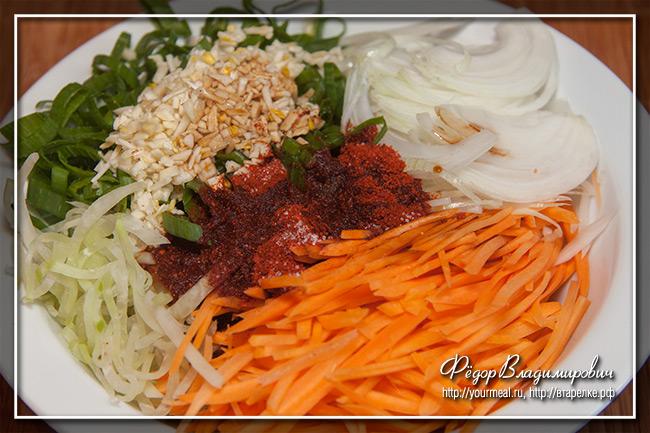 Рулет с корейской морковью