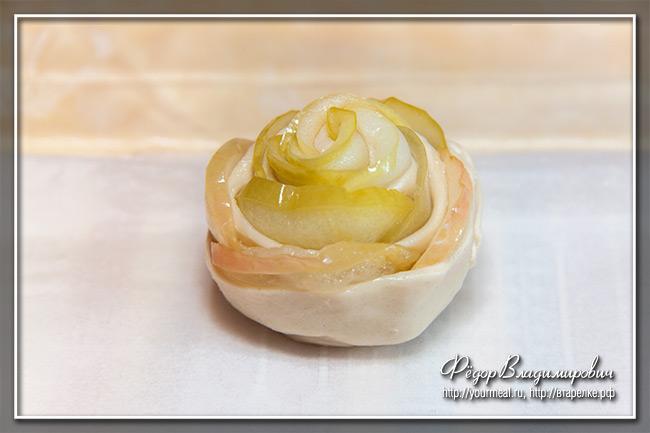 Печенье «Розочки» с яблоками