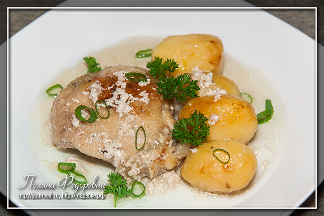 Курица с картофелем в пакете