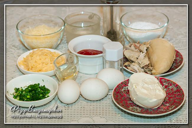 Маникотти - итальянские блинчики с курицей и сыром
