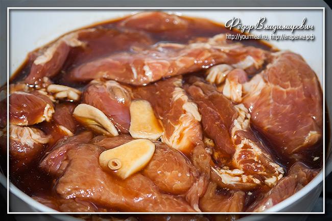 Стир-фрай из свинины
