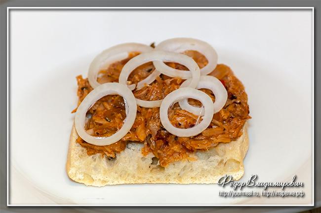 Pulled Pork Sandwich - сэндвич с запеченной свининой