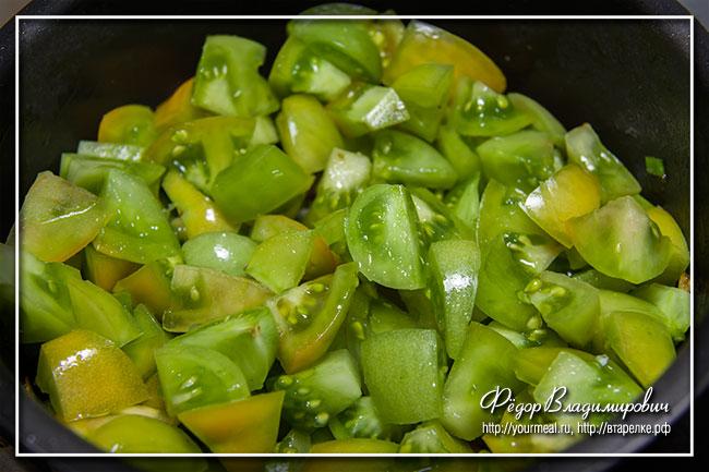 Суп из зеленых помидоров