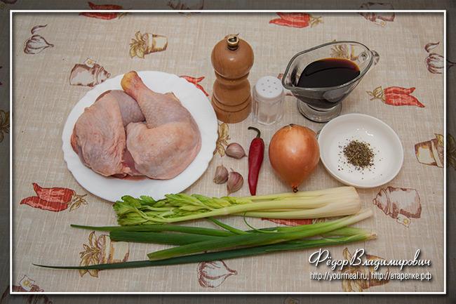 Тушеная курица по-ямайски