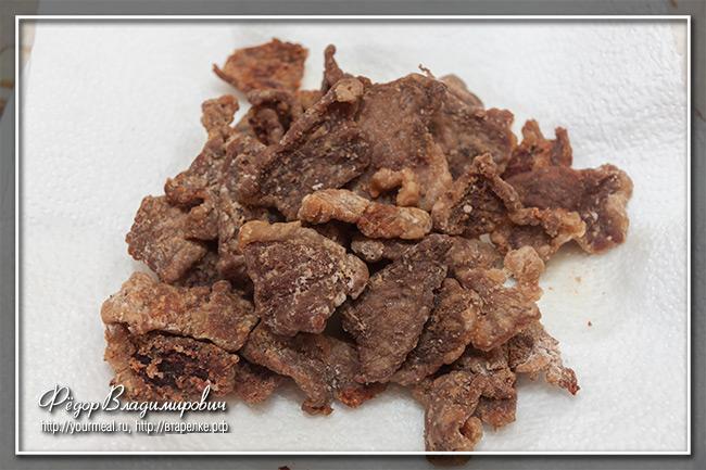 Монгольское мясо