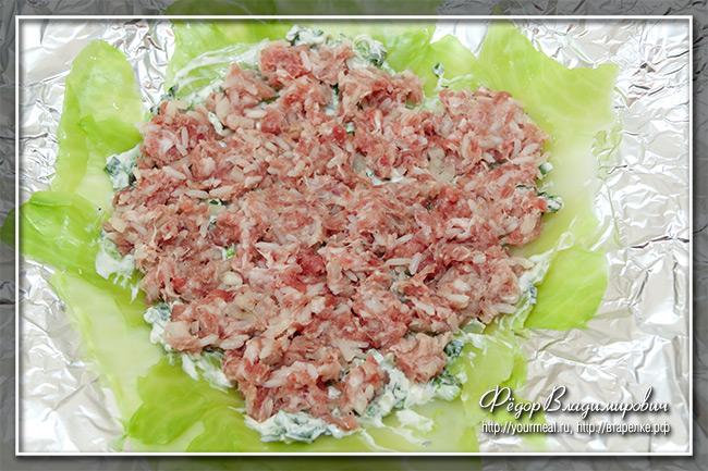 Капустная запеканка с мясом