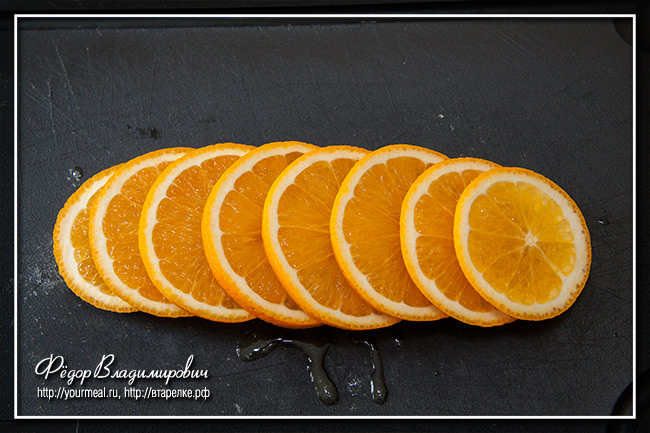Апельсиновые дольки в шоколаде