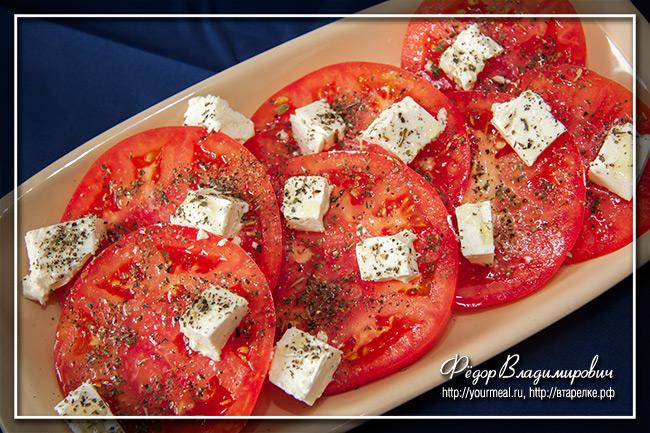 Кипрский салат из помидоров с сыром фета