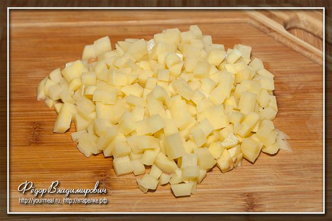 Запеченный перец фаршированный картофелем