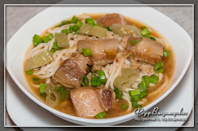 Свиной суп с лапшой