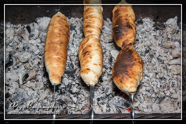 Хачапури на шампуре
