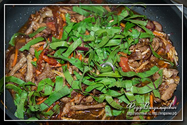 Стир фрай 5 овощей со свининой