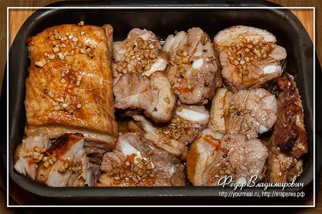 Свиные ребра в кисло-сладком маринаде