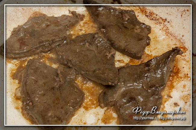 Печень по-венециански ( fegato alla veneziana )