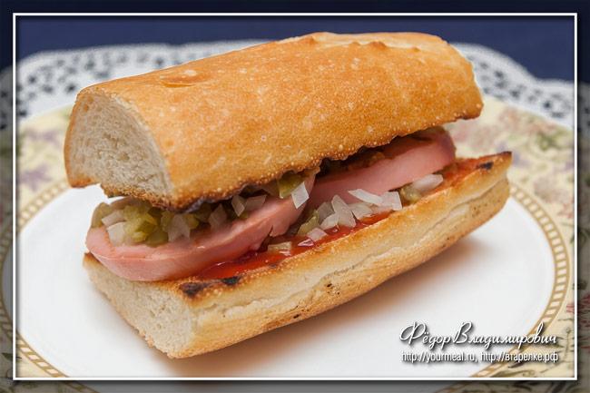 Порилайнен - финский бутерброд с вареной колбасой