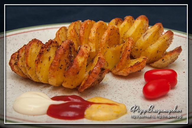 Спирали из картофеля
