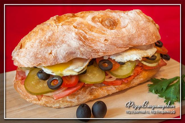 Сэндвич с жареной мортаделлой