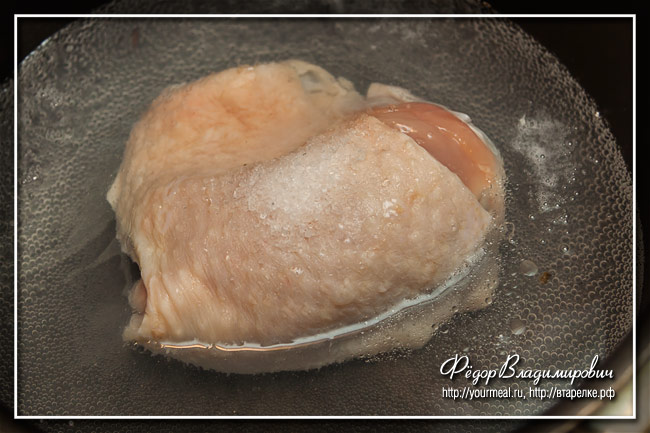 Курица в сметане по-осетински