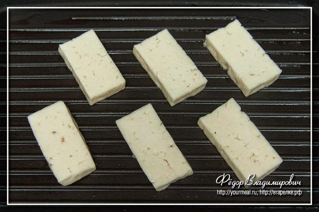 Жареный сыр халуми