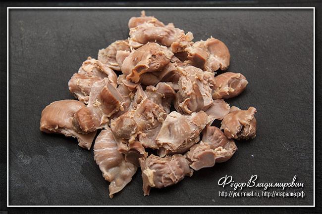 Хрустящие жареные куриные желудки