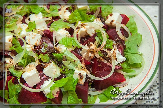 рецепты салата со свеклой и грибами