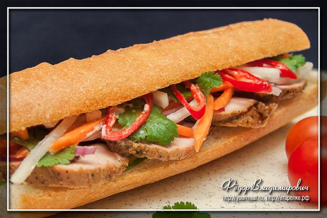 Бан Ми (Banh Mi ) классический вьетнамский сэндвич
