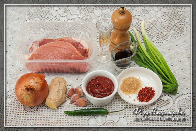 Острая свинина по-корейски Твэджи пулькоги (Doejibulgogi, doejigogi bokkeum, jeyukbokkeum)