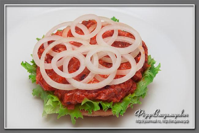 Сэндвич с куриным мясом и сыром