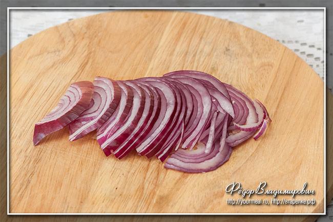 Венгерский салат из копченой сельди