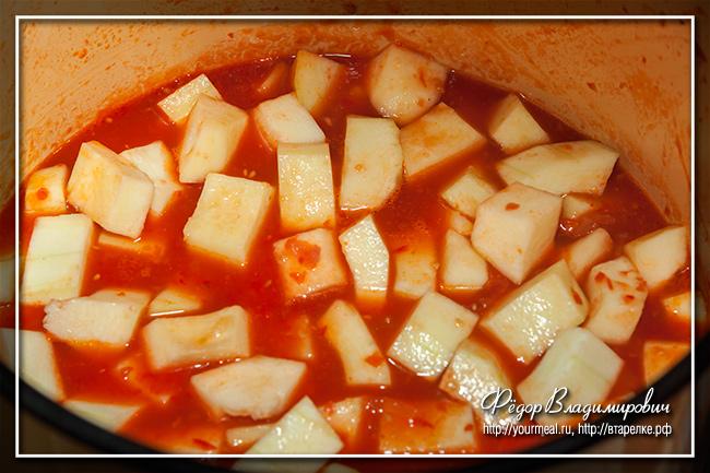 Кабачок в томатном маринаде