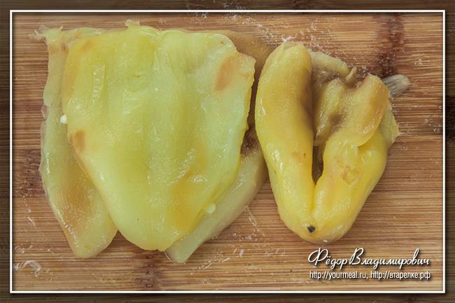 Как очистить болгарский перец от кожицы