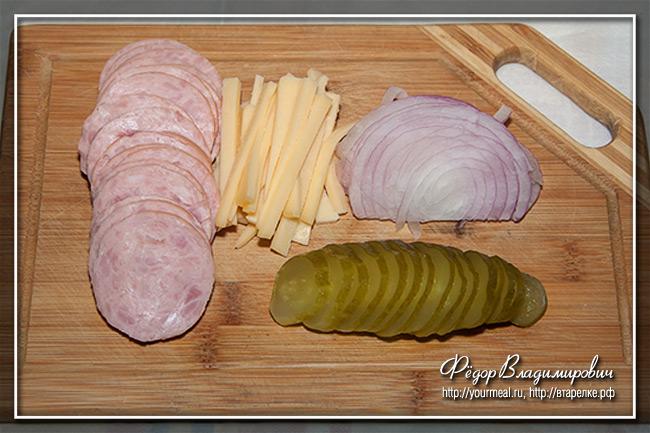 Швейцарский колбасный салат wurstsalat