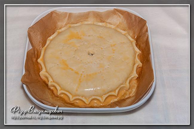 Простой пирог с курицей и картошкой