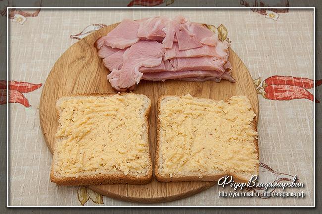 Панини с ветчиной и сыром
