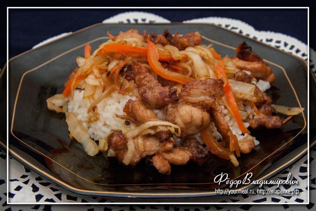 Свинина с капустой. Паназиатская кухня.