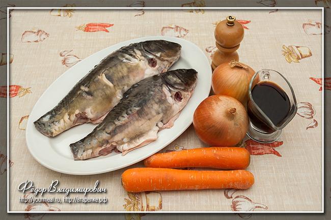 Запеченная рыба с соевым соусом