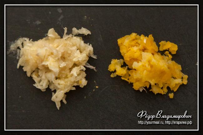 Баранина с чесноком, медом и лимонным соком