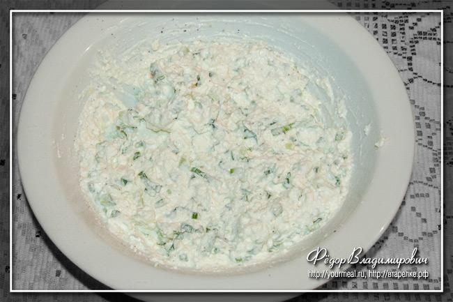 Творожный соус к крекерам и чипсам