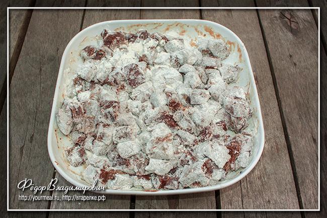 Мягкая печень в сметане и сливках