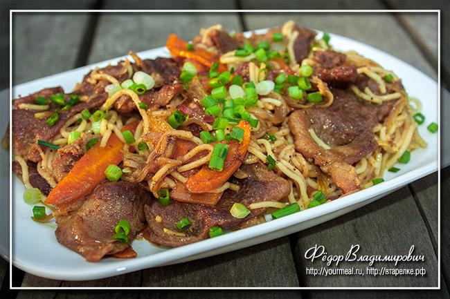 Сингапурская лапша со свининой